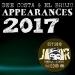 Appearances 2017